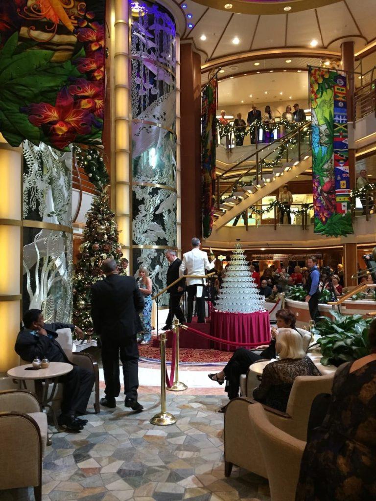 Cruise ship lobby