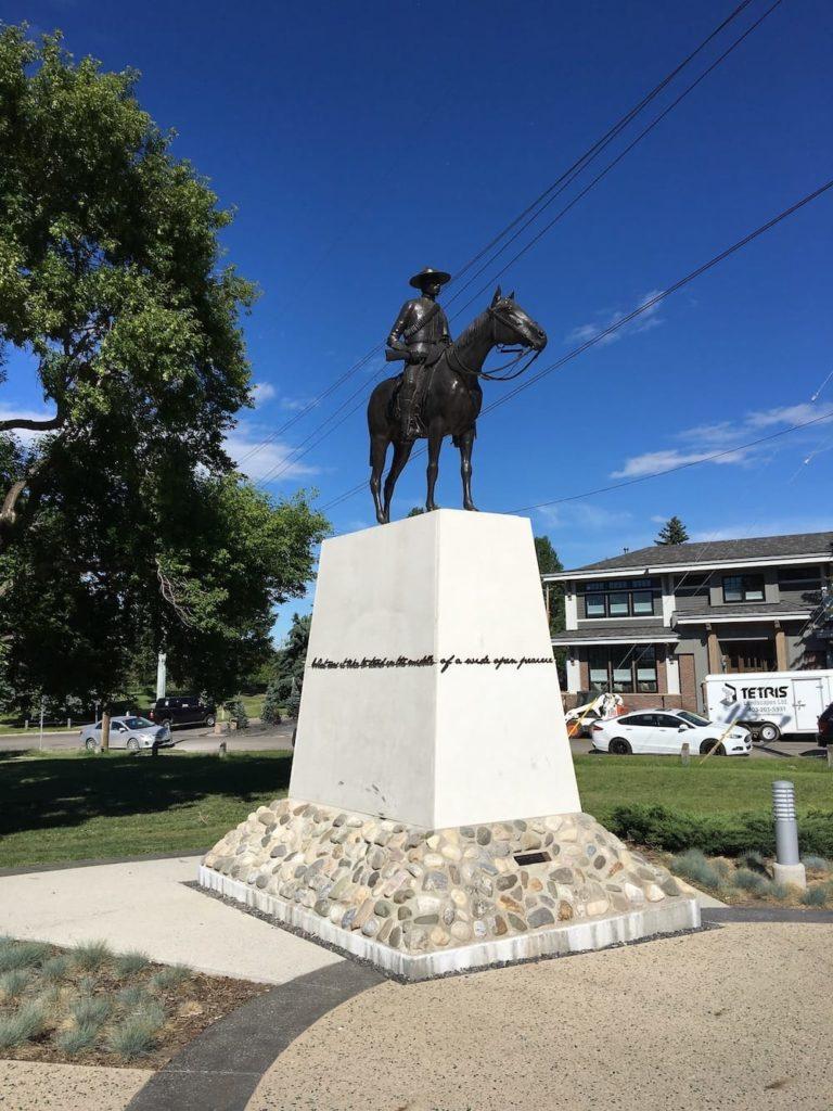 RCMP Statue Calgary