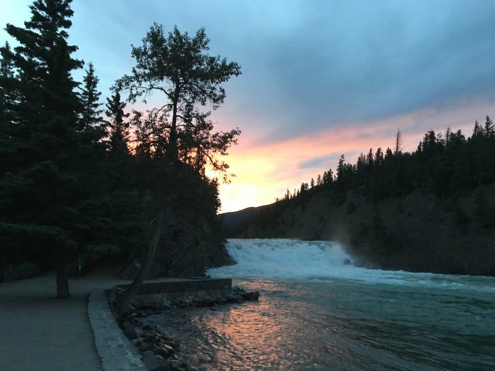 Bow Falls Sunset