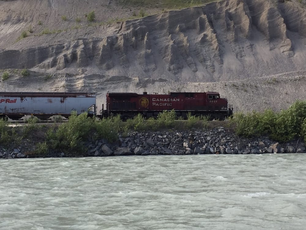 Kicking Horse Canyon train