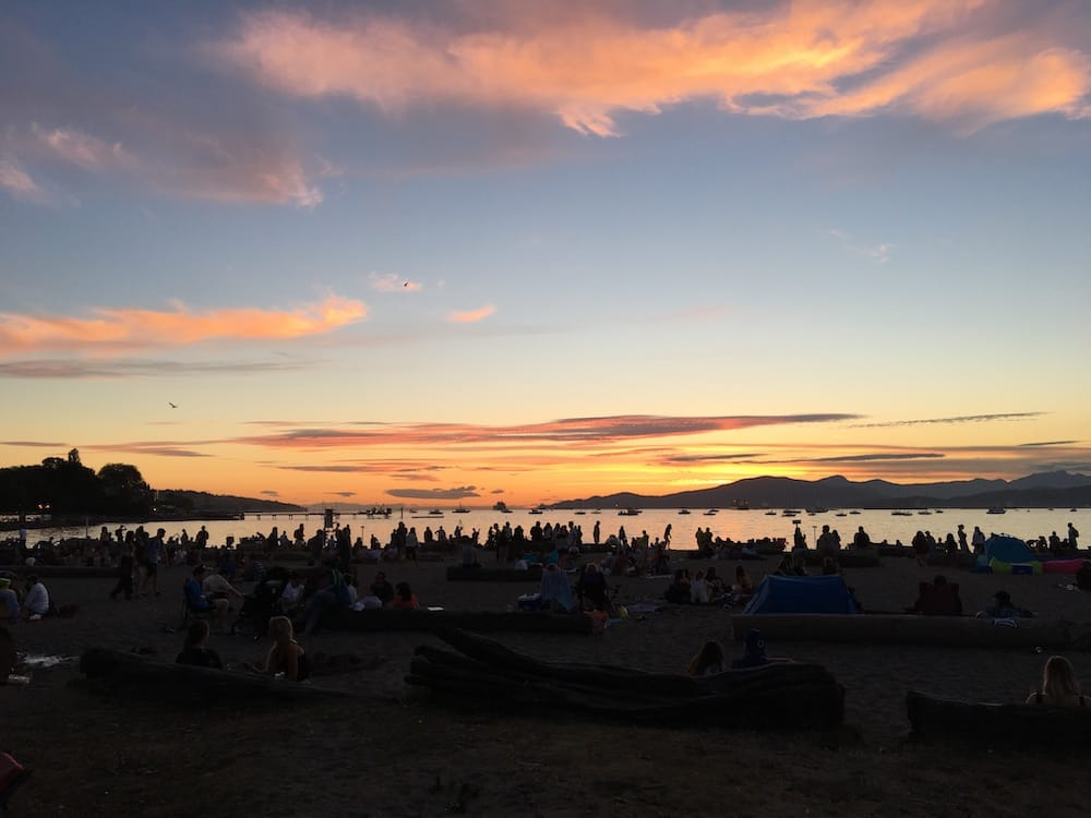 Beach party Kitsilano Park