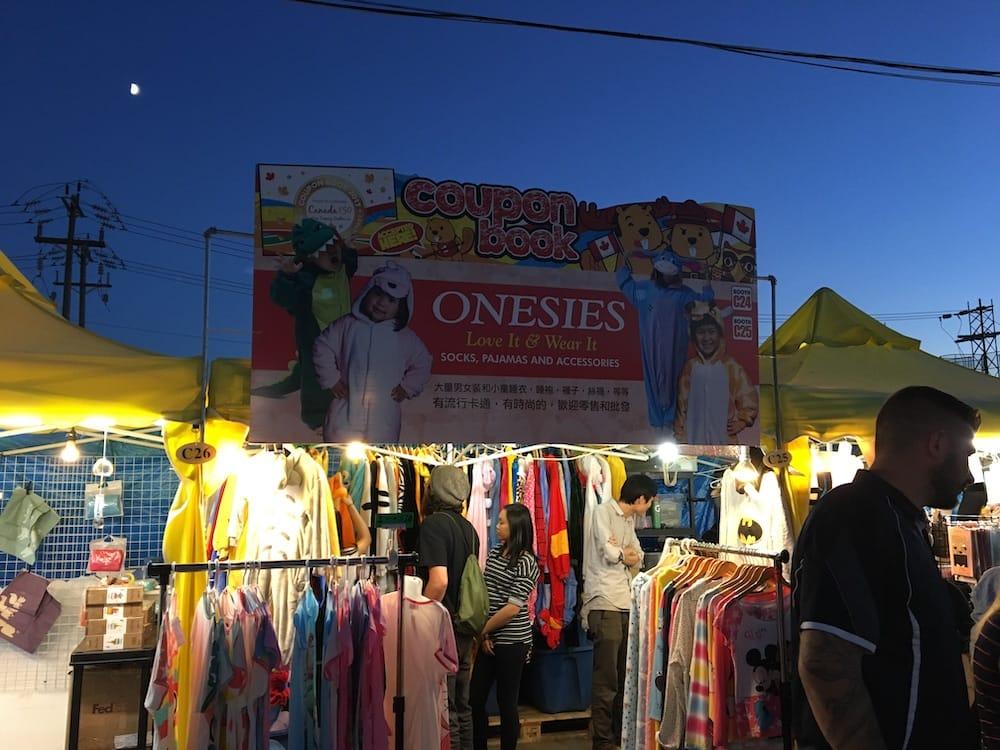 Night market stall