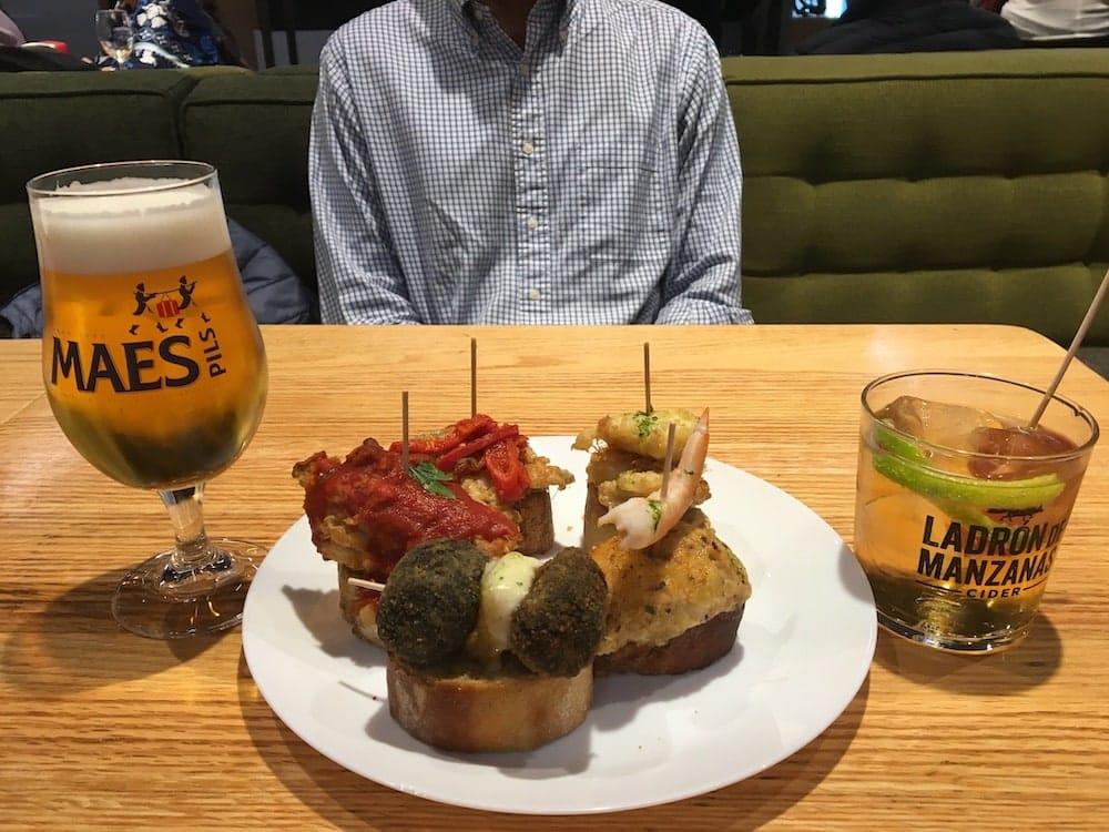 Pinxos beer and cider