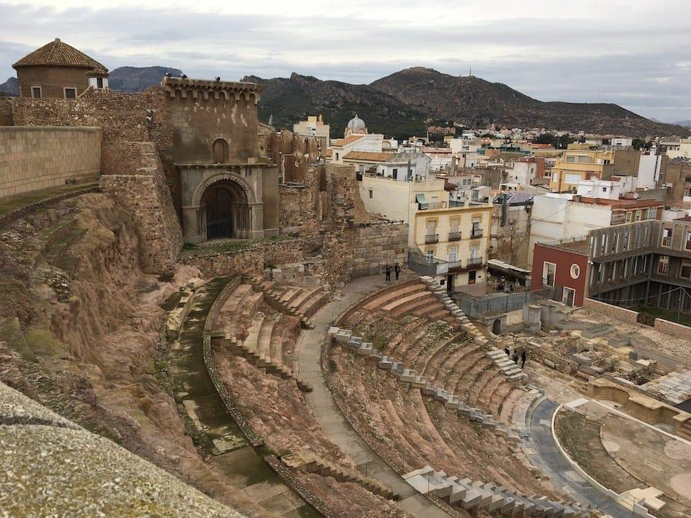 Cartegena Roman Amphitheatre and town