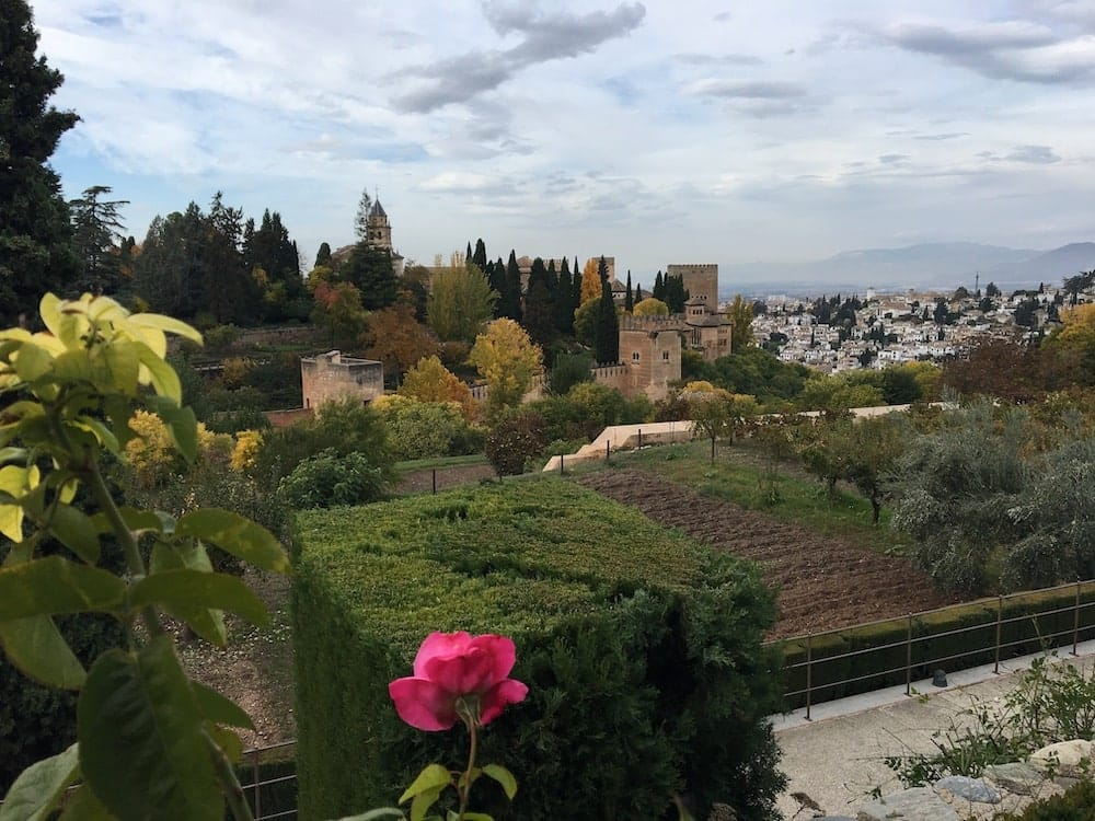 Grenada from Alhambra Generalife Gardens