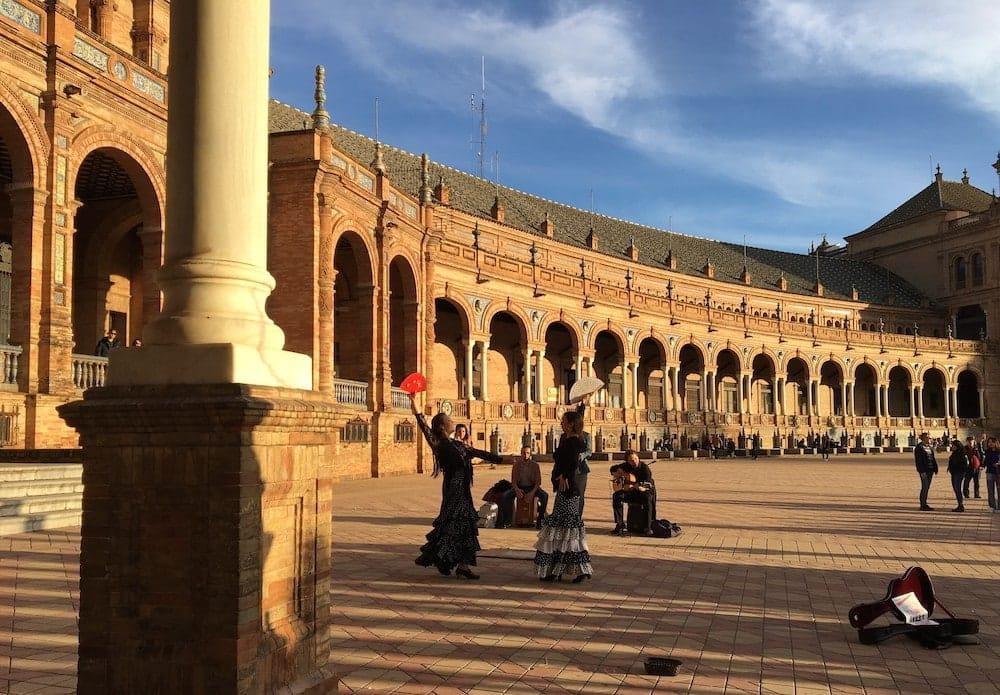 flamenco performers Plaza D'Espana
