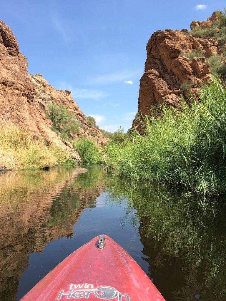 kayaking in Canyon Lake