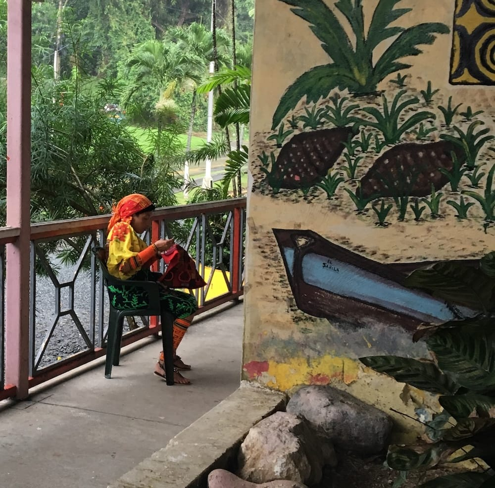 Indigenous craftswoman